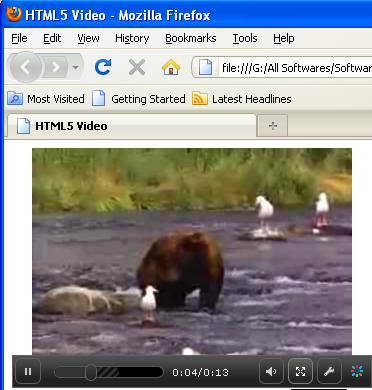 HTML5 Video Example