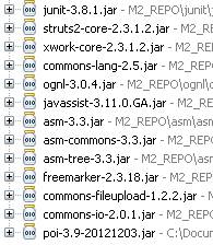 Required Jar files to work with Struts 2 Framework