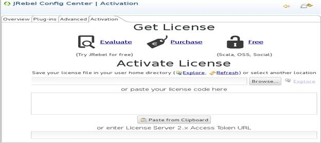 Activate JRebel License