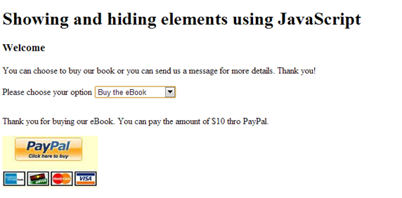 Screenshot of our page if user chooses to buy the eBook through PayPal